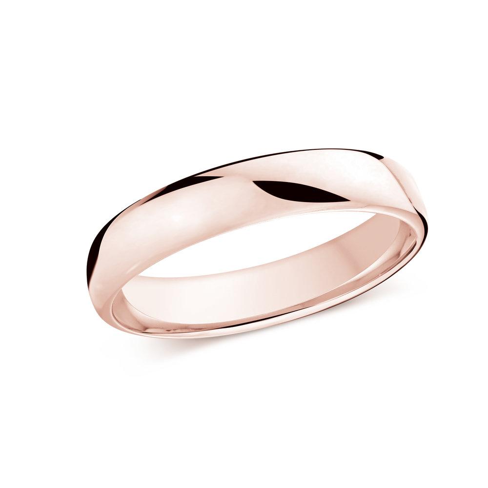 Pink Gold Men's Ring Size 4mm (J-308-04PG)
