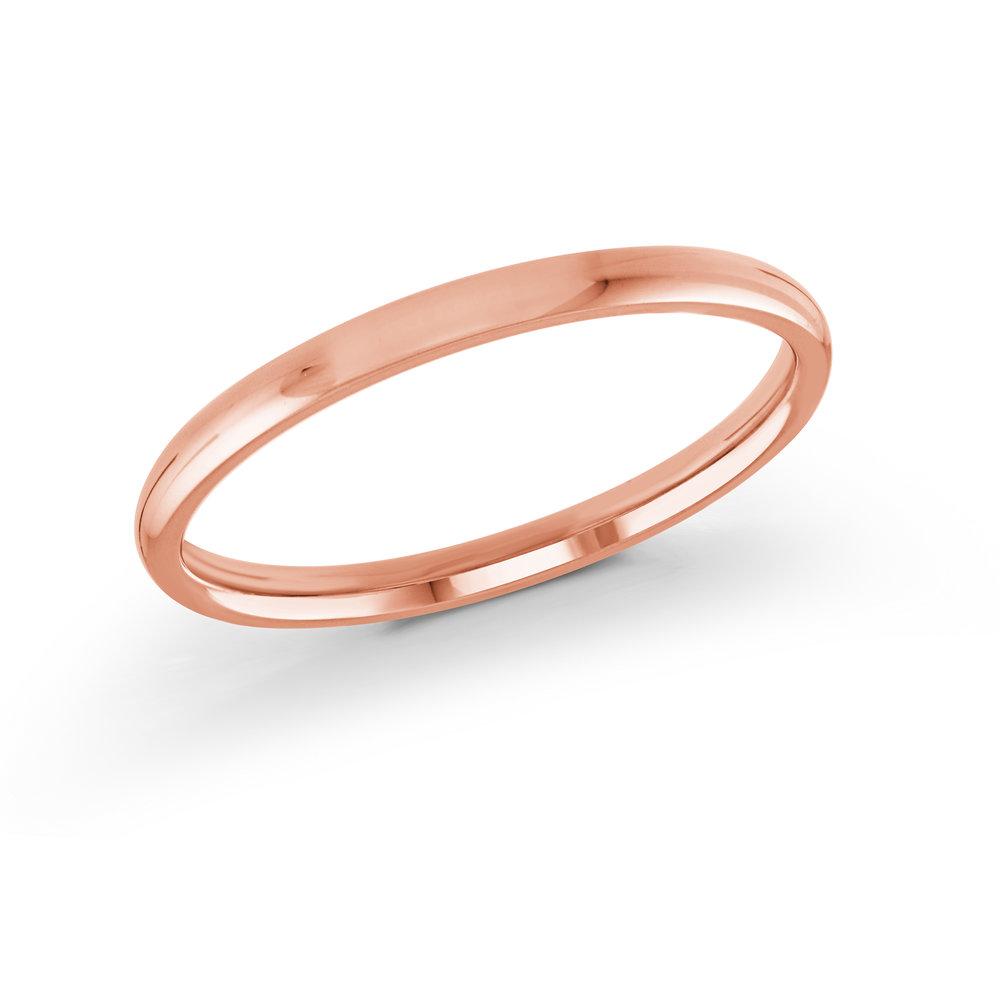 Pink Gold Men's Ring Size 2mm (J-217-02PG)