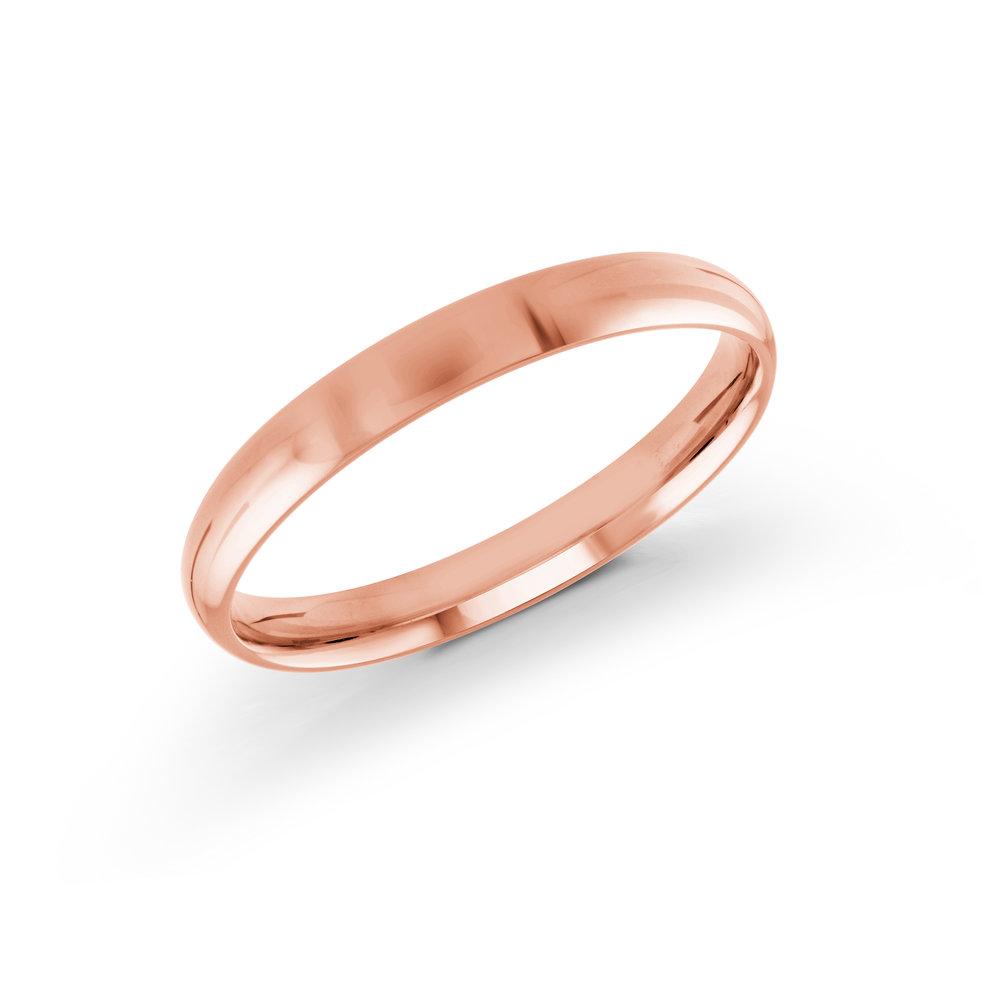 Pink Gold Men's Ring Size 3mm (J-217-03PG)