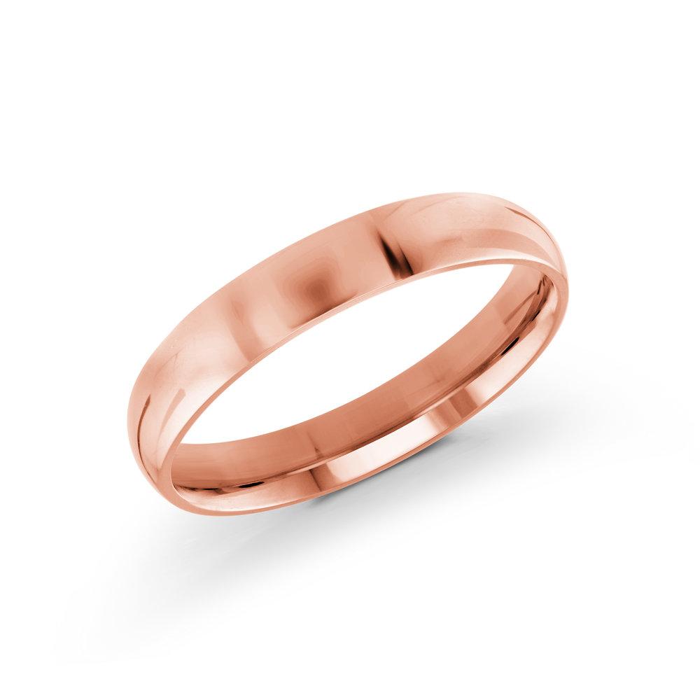 Pink Gold Men's Ring Size 4mm (J-217-04PG)