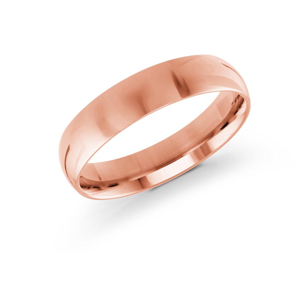 Pink Gold Men's Ring Size 5mm (J-217-05PG)