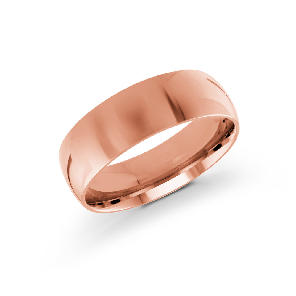 Pink Gold Men's Ring Size 7mm (J-217-07PG)