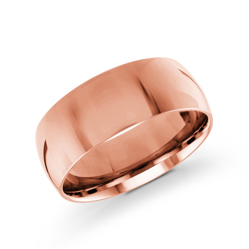 Pink Gold Men's Ring Size 8mm (J-217-08PG)