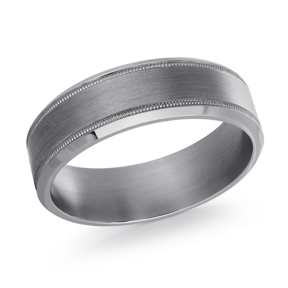 GREY Gold Men's Ring Size 7mm (TANT-002-7)