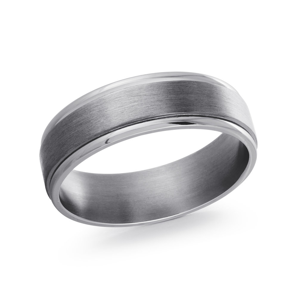GREY Gold Men's Ring Size 8mm (TANT-003-8)