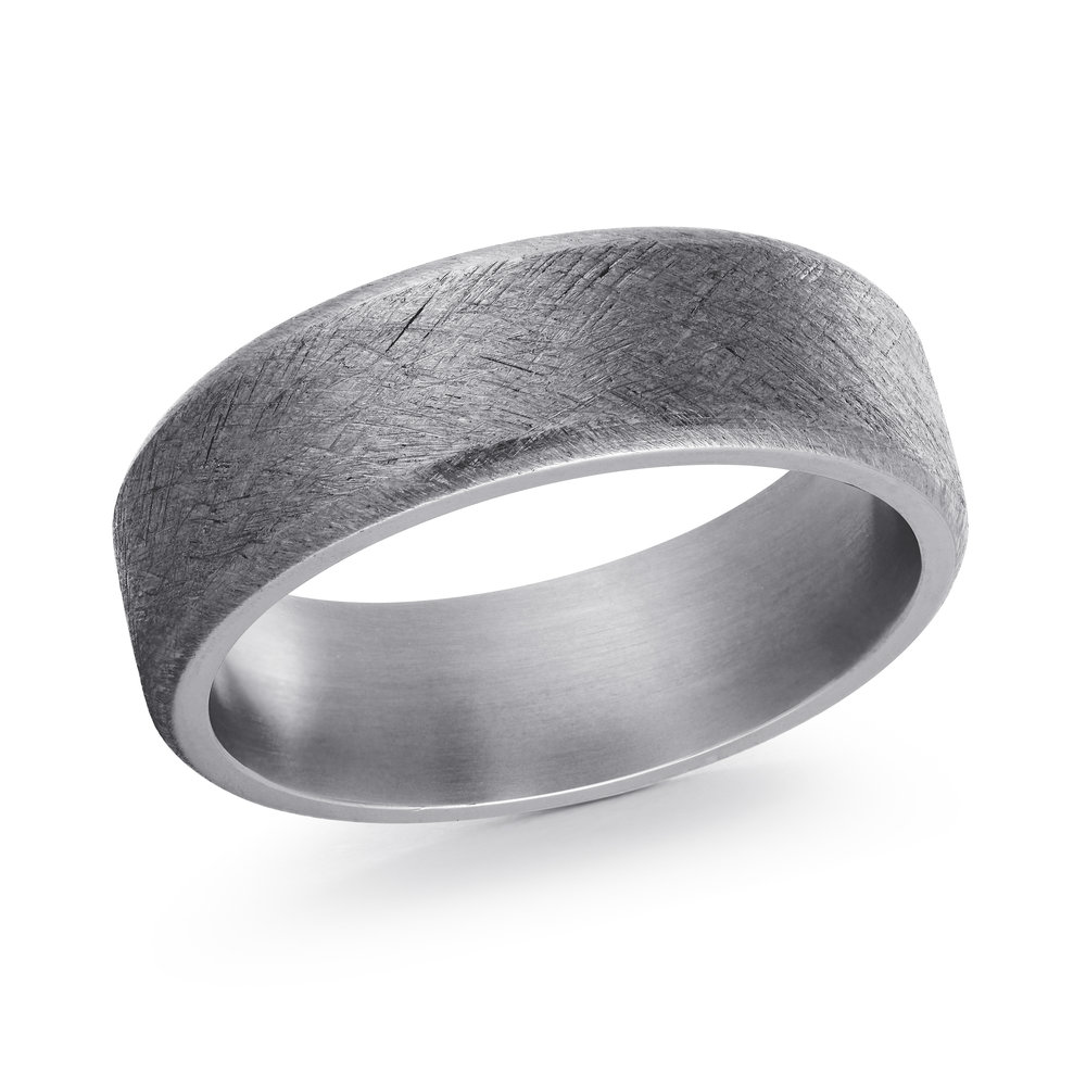 GREY Gold Men's Ring Size 7mm (TANT-008-7)