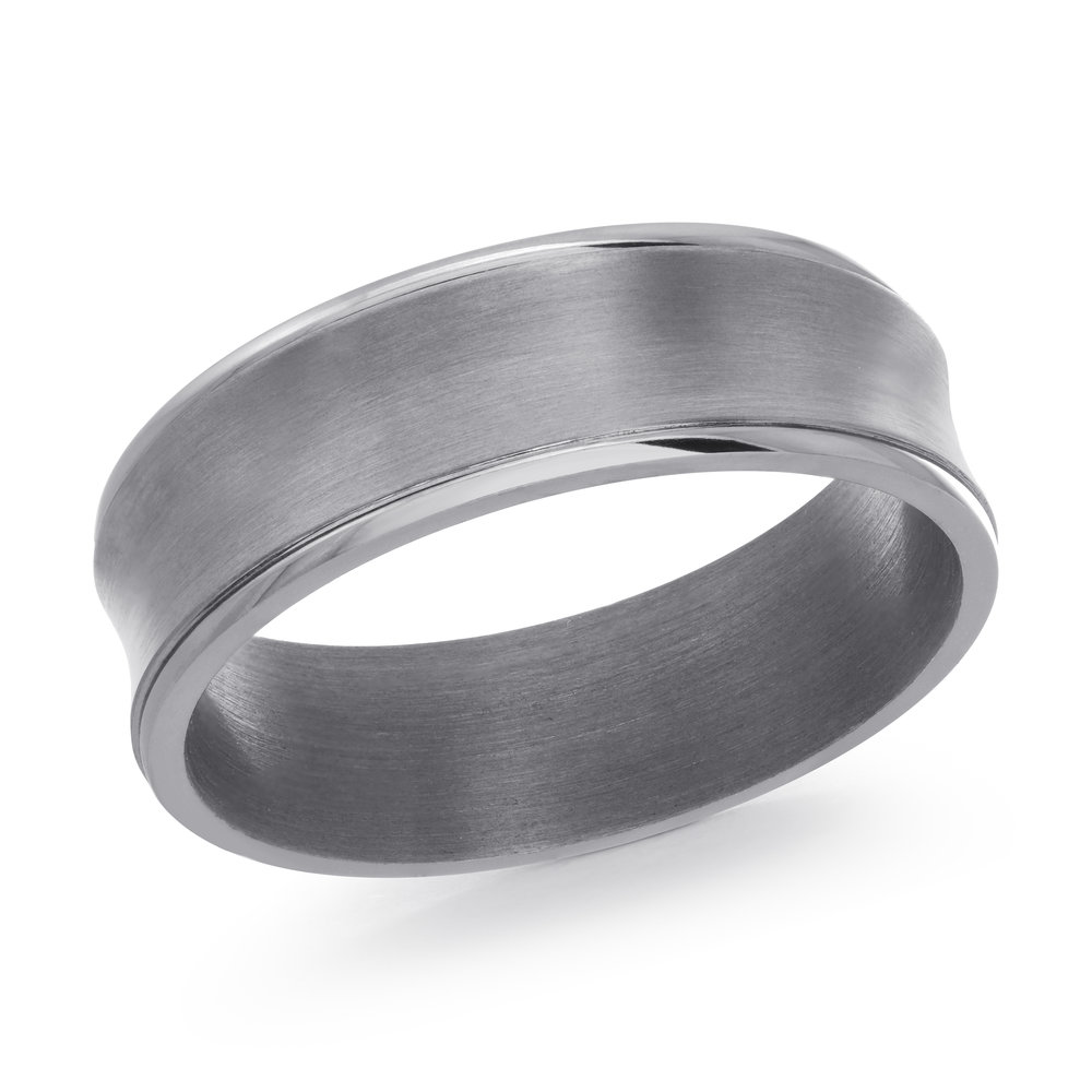 GREY Gold Men's Ring Size 7mm (TANT-011-7)