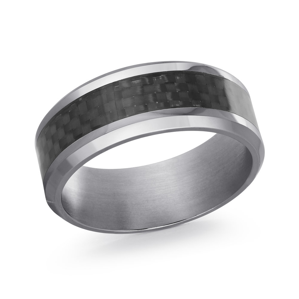 GREY Gold Men's Ring Size 8mm (TANT-013-8)