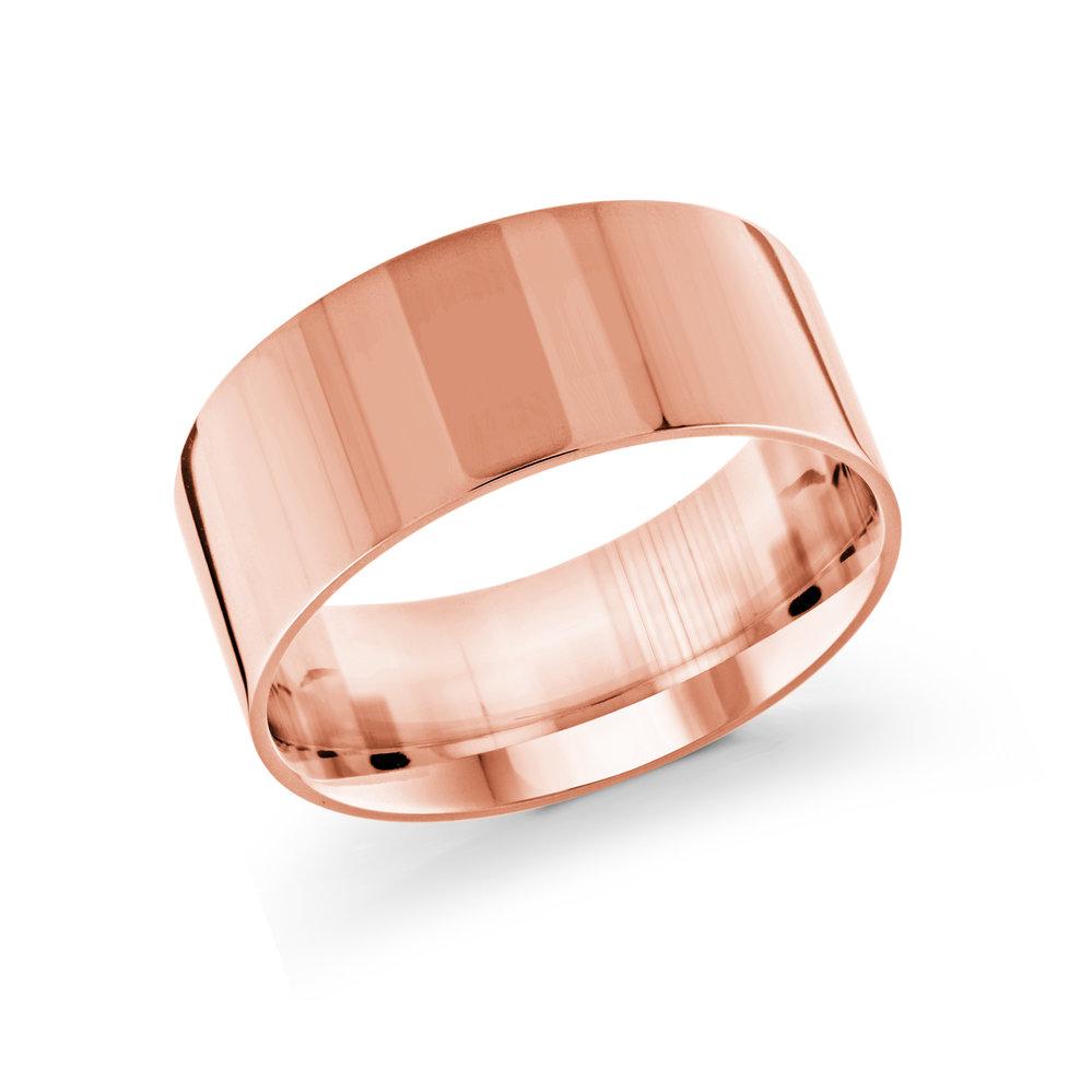 Pink Gold Men's Ring Size 10mm (J-213-10PG)