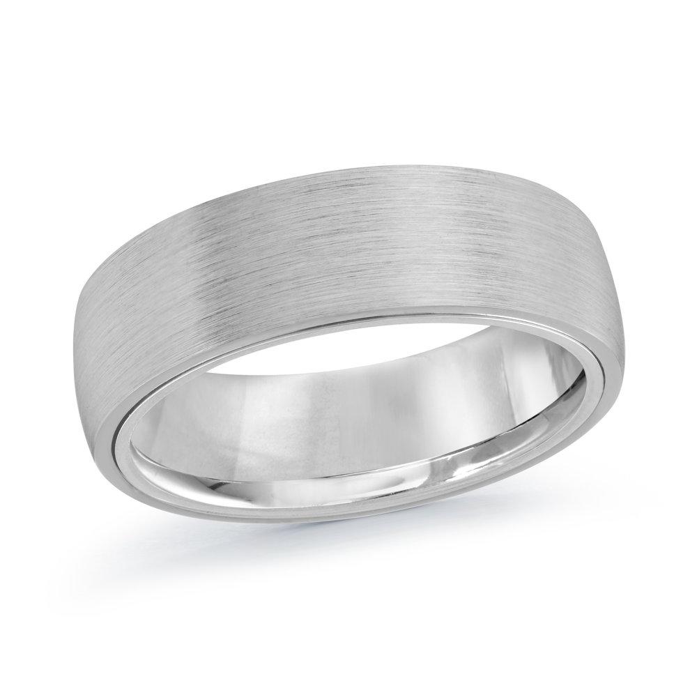 White Gold Men's Ring Size 7mm (MRD-057-7W)