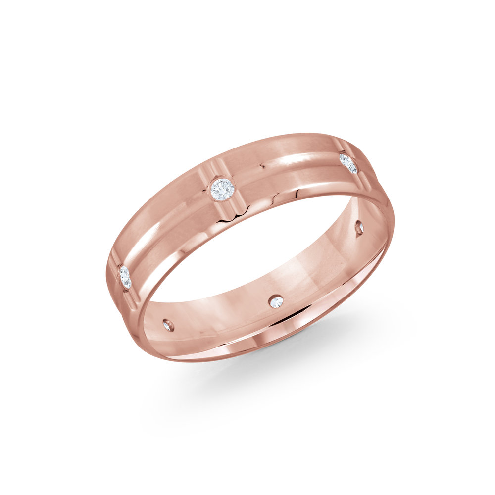 Pink Gold Men's Ring Size 6mm (JMD-606-6P12)