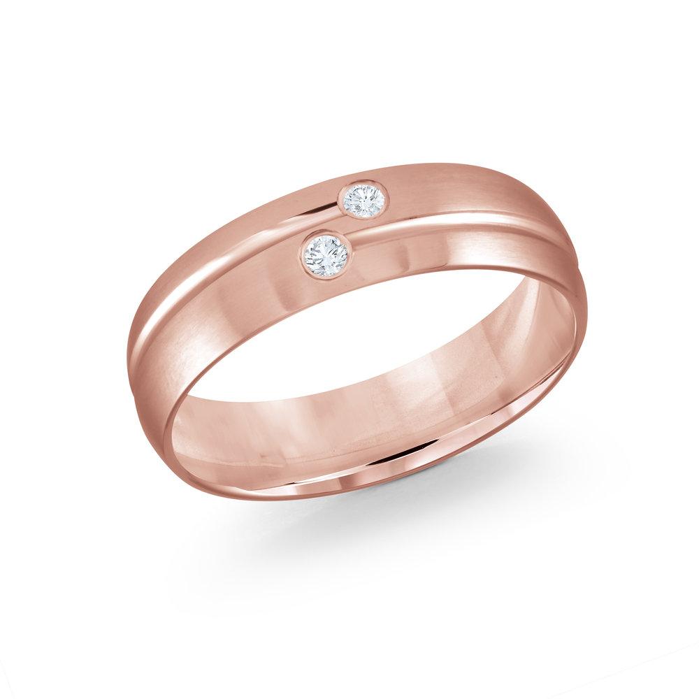 Pink Gold Men's Ring Size 7mm (JMD-821-7P6)