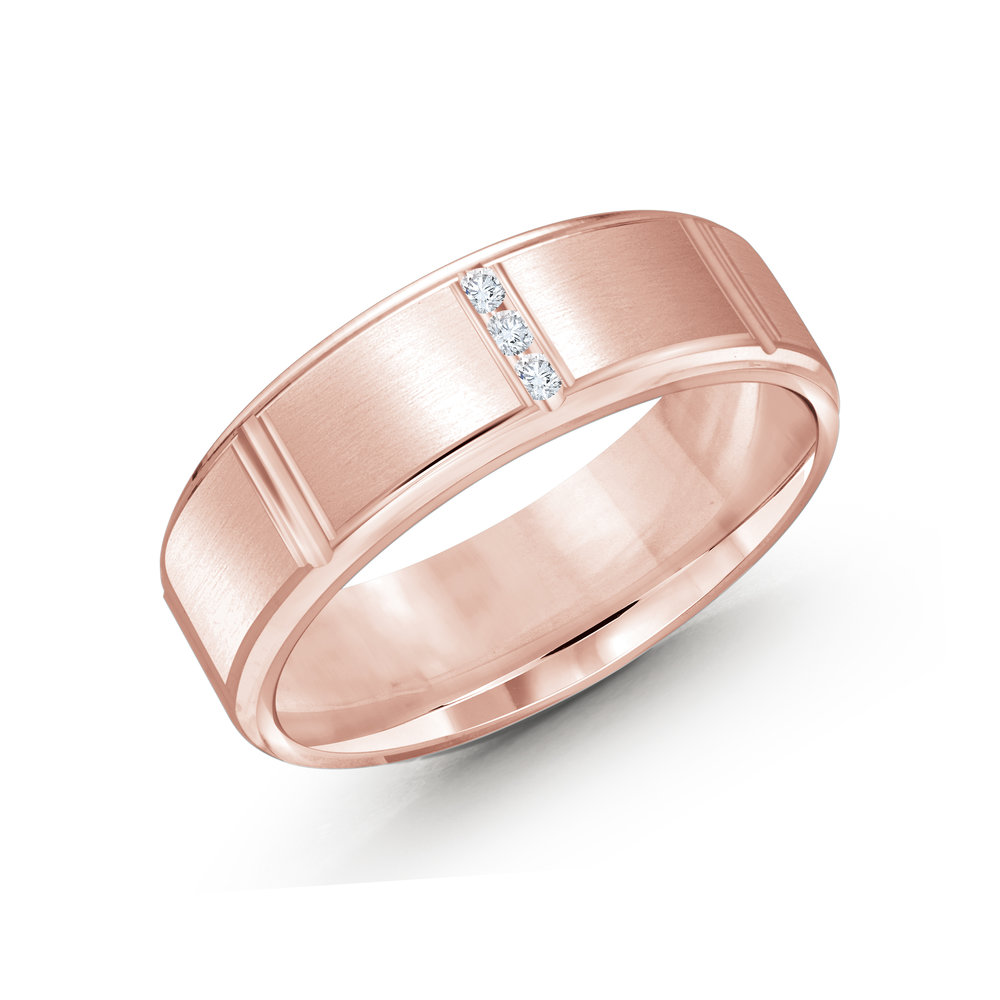 Pink Gold Men's Ring Size 7mm (JMD-1088-7P10)