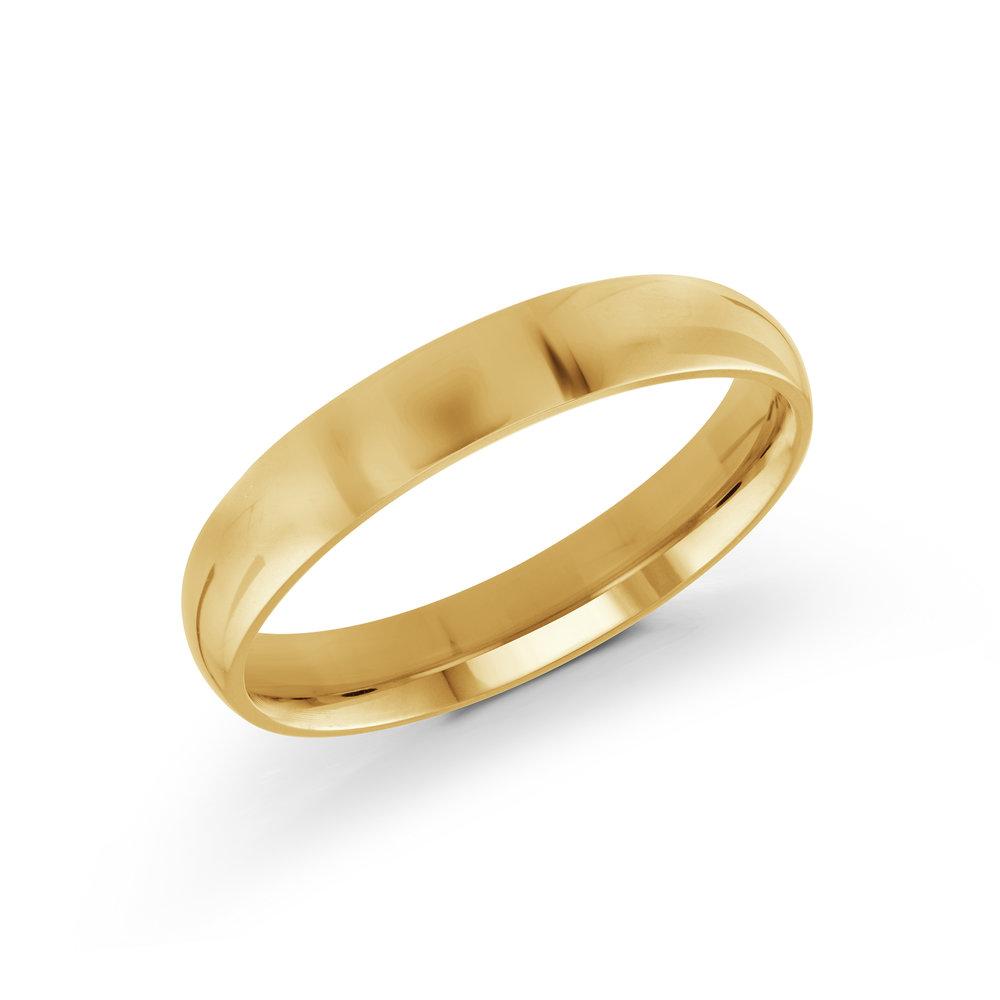 Yellow Gold Men's Ring Size 4mm (J-100-04YG)