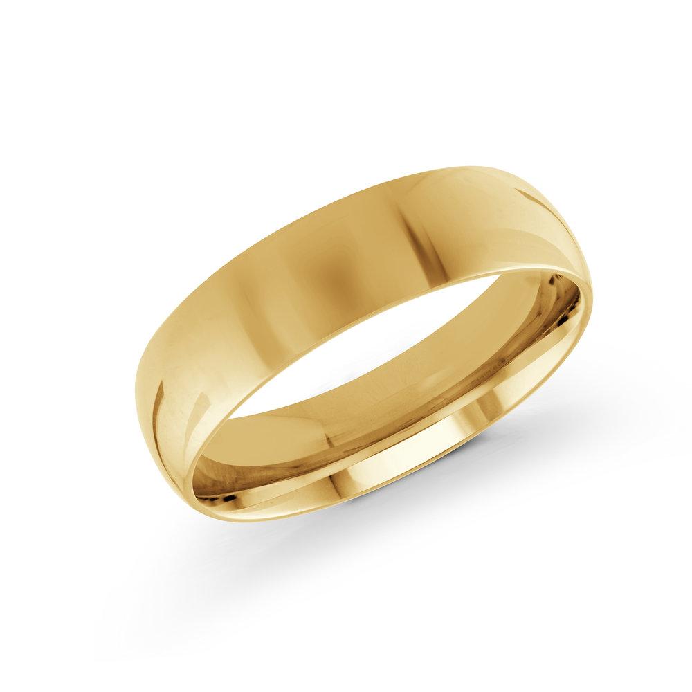 Yellow Gold Men's Ring Size 6mm (J-100-06YG)