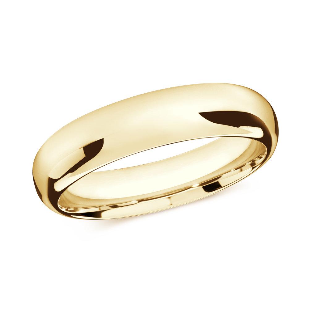 Yellow Gold Men's Ring Size 6mm (J-207-06YG)