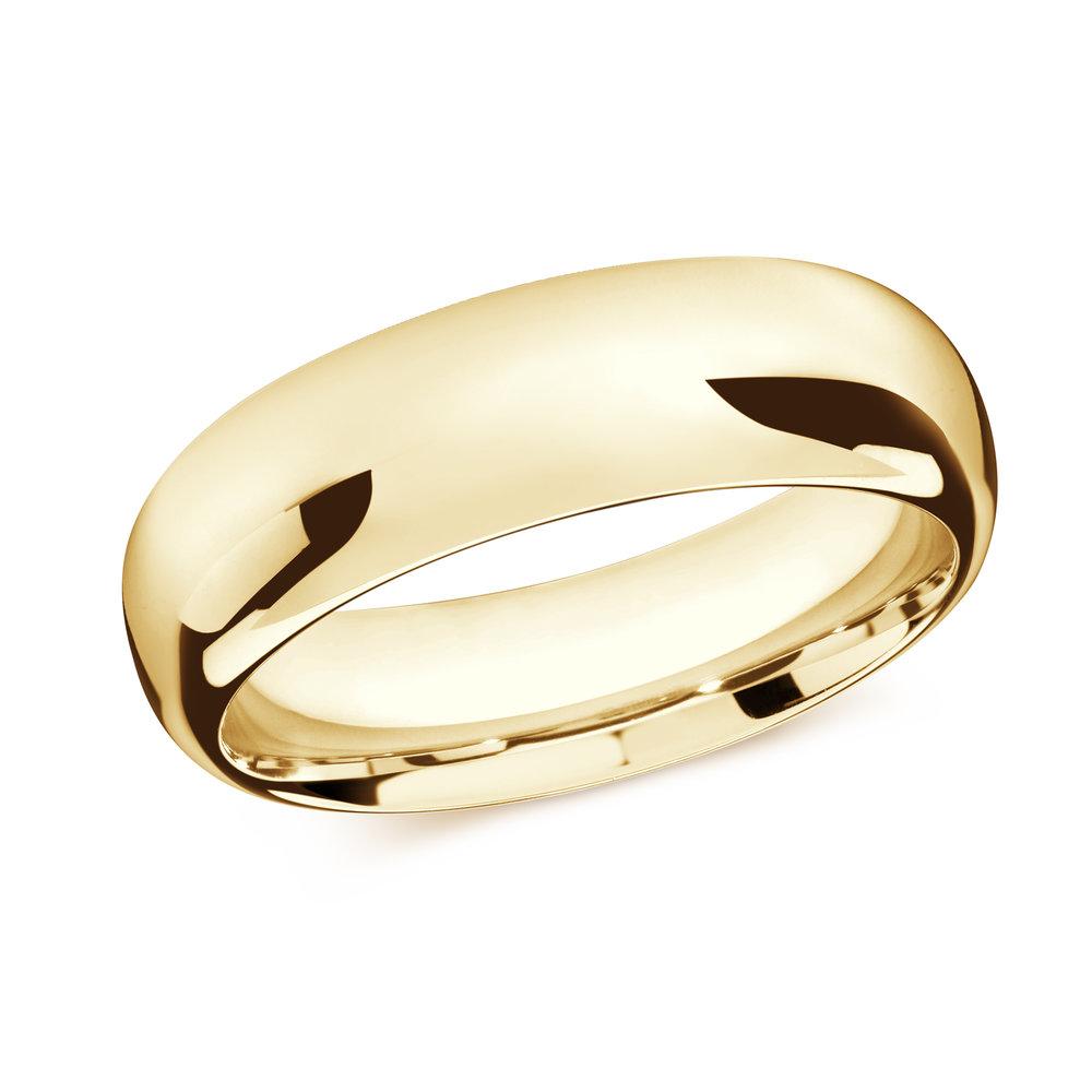Yellow Gold Men's Ring Size 8mm (J-207-08YG)