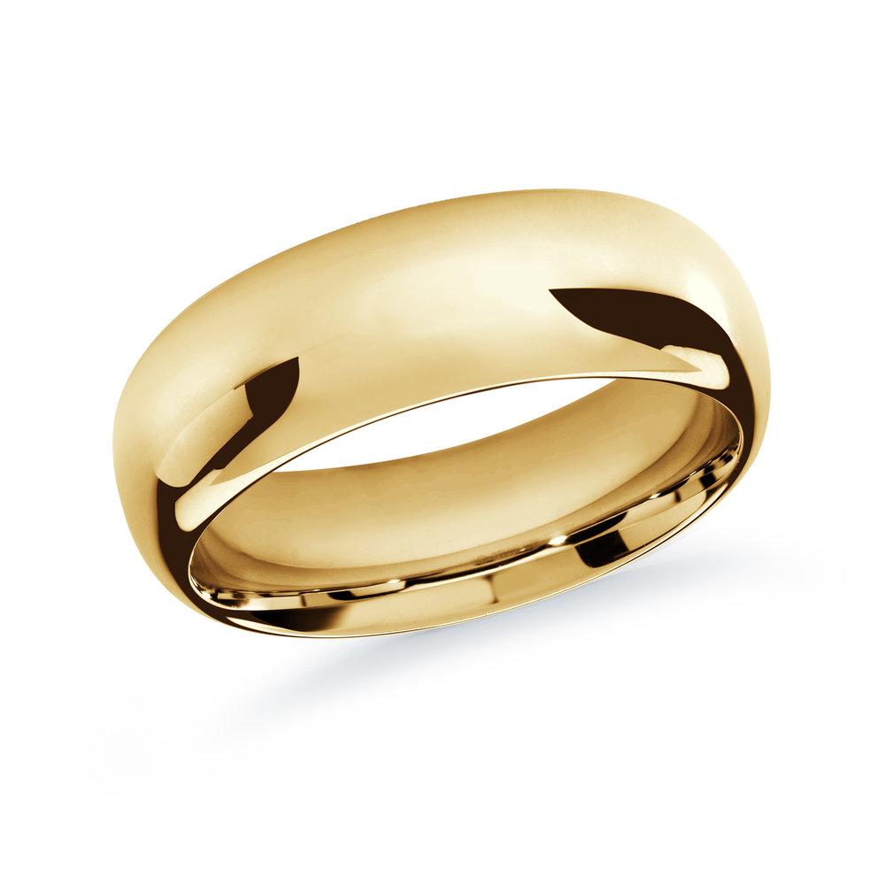 Yellow Gold Men's Ring Size 9mm (J-207-09YG)