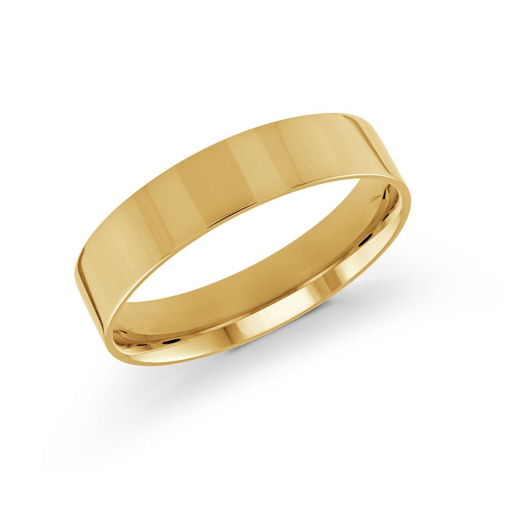 Yellow Gold Men's Ring Size 5mm (J-213-05YG)