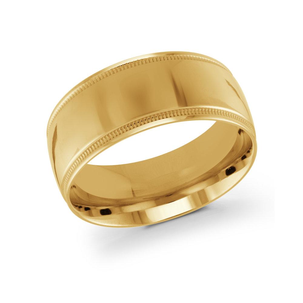 Yellow Gold Men's Ring Size 10mm (J-209-10YG)