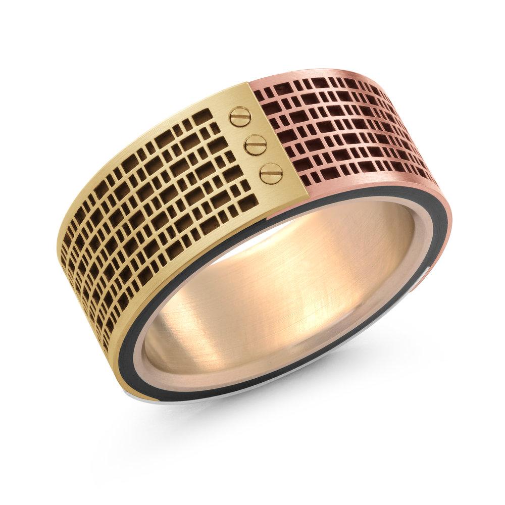 White Gold Men's Ring Size 10mm (MRDA-059)